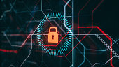 istock Cyber Technology Security Protection Monitoring Concept, Advanced Cloud Data Security System, Futuristic Technology Background, 3d Rendering 1276687348