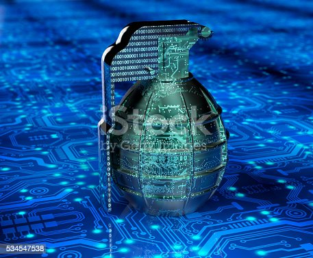 istock cyber terrorism concept computer bomb in electronic environment 534547538