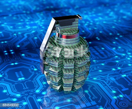 istock cyber terrorism concept computer bomb in electronic environment 534549332