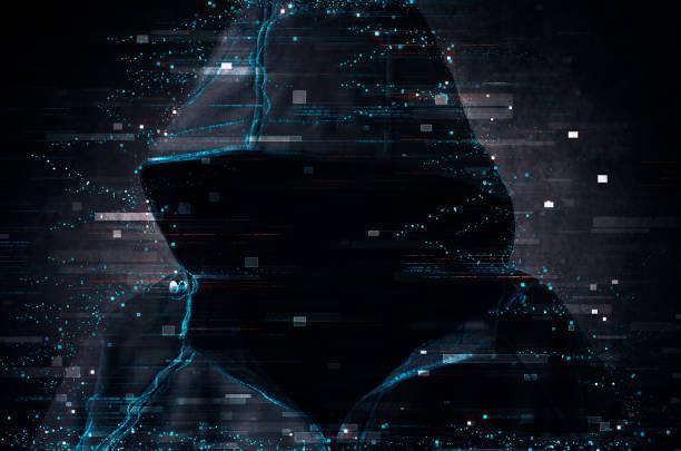 Cyber terrorism stock photo