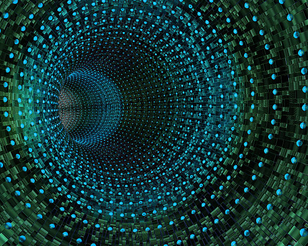 cyber tunnel - perpetual motion stock photos and pictures