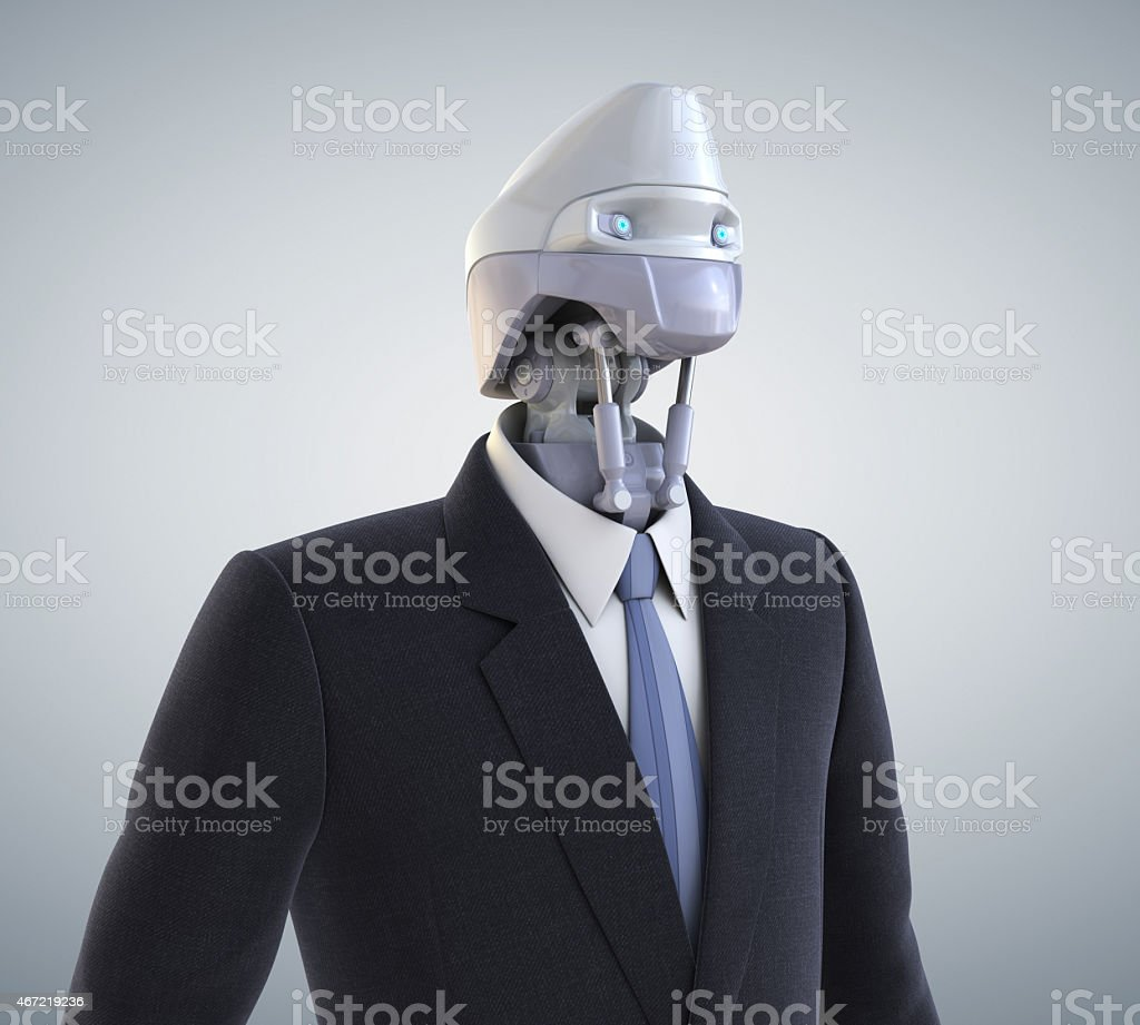 Cyber worker stock photo