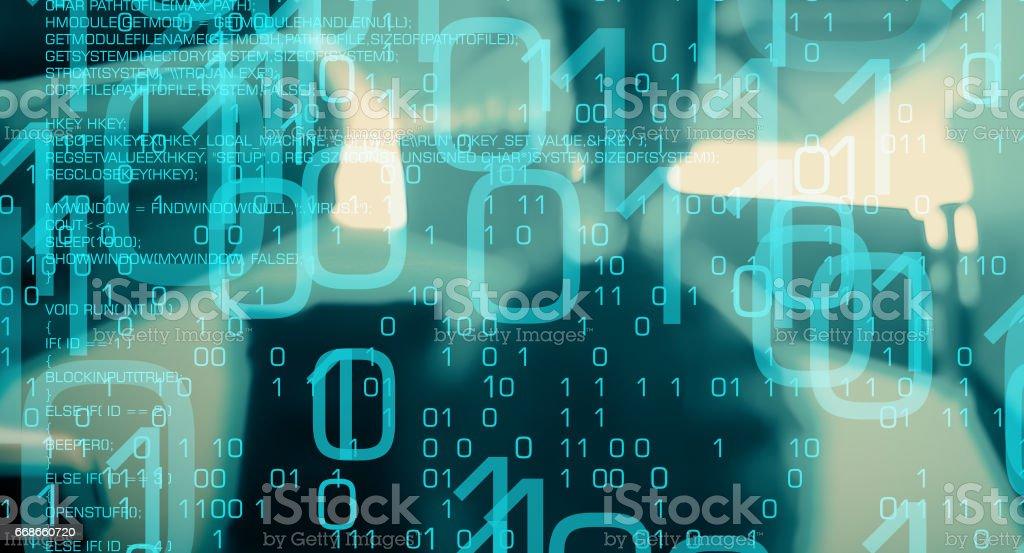 Fotografía de Antecedentes De Ataque Cibernético Futurista Ciber ...