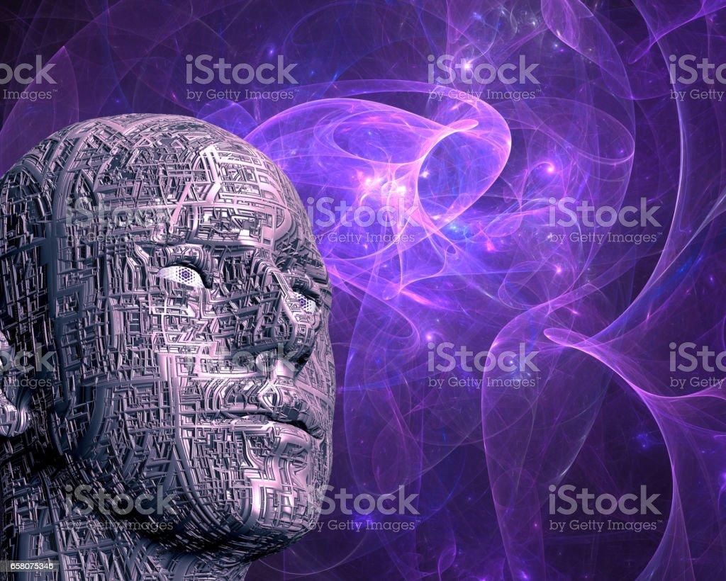 Cyberman royalty-free stock photo