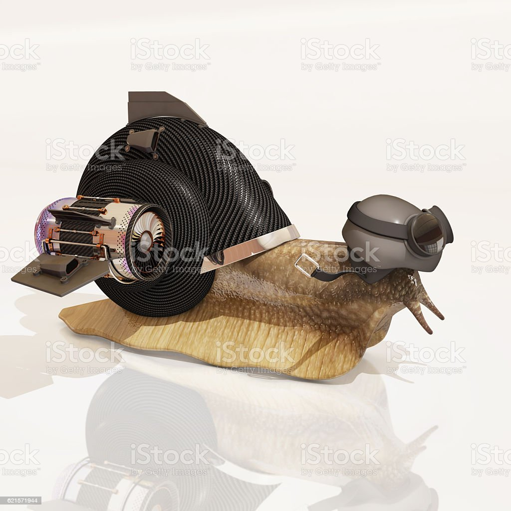 cybernetic snail, 3d rendering photo libre de droits