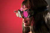 istock Cybernetic Vision Girl 528957294