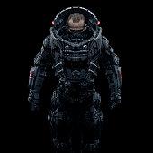 Cyberpunk soldier portrait