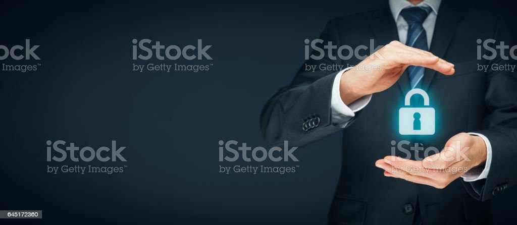 Cybersecurity and internet security stock photo