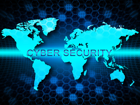 istock Cybersecurity Concept Digital Cyber Security 2d Illustration 1061007832