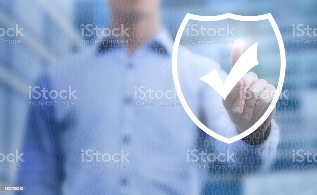 cybersecurity concept, online data protection on internet stock photo