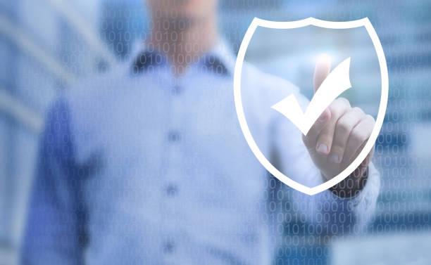 concept de la cybersécurité, protection des données en ligne sur internet - Photo