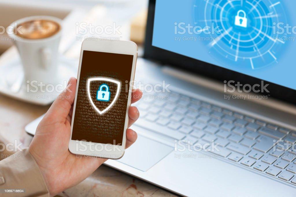 Cybersecurity concept - Foto stock royalty-free di Accessibilità