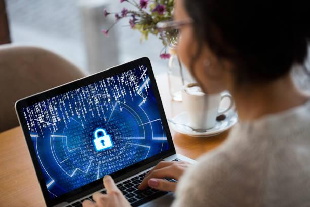 cybersicherheitskonzept - netzwerksicherheit stock-fotos und bilder
