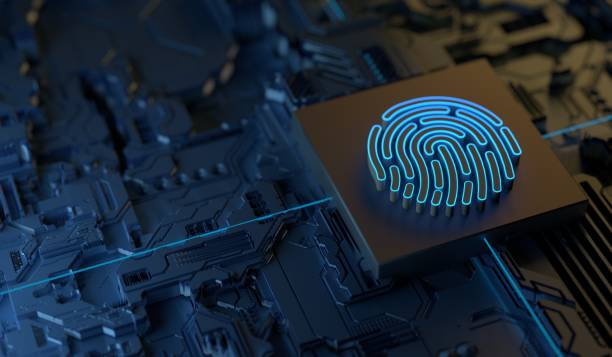 Cybersecurity Digital Security Technology Digital Finger Print Security privacy stock pictures, royalty-free photos & images