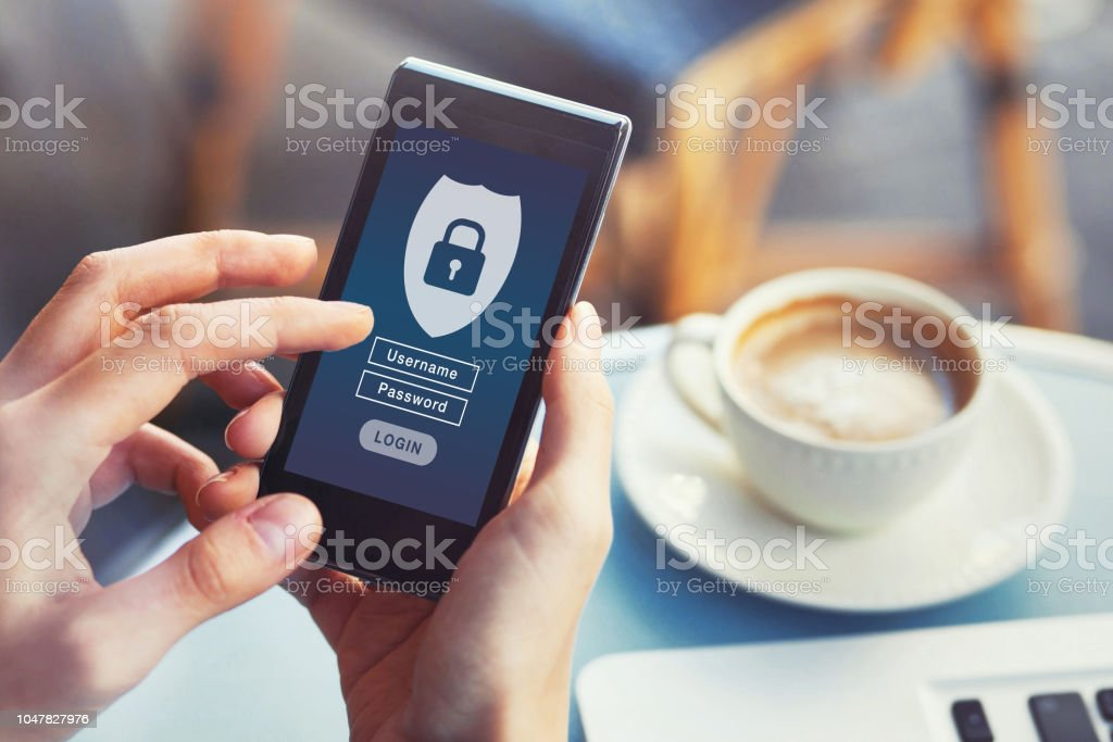 cybersecurity, private access with username and password to personal data stock photo