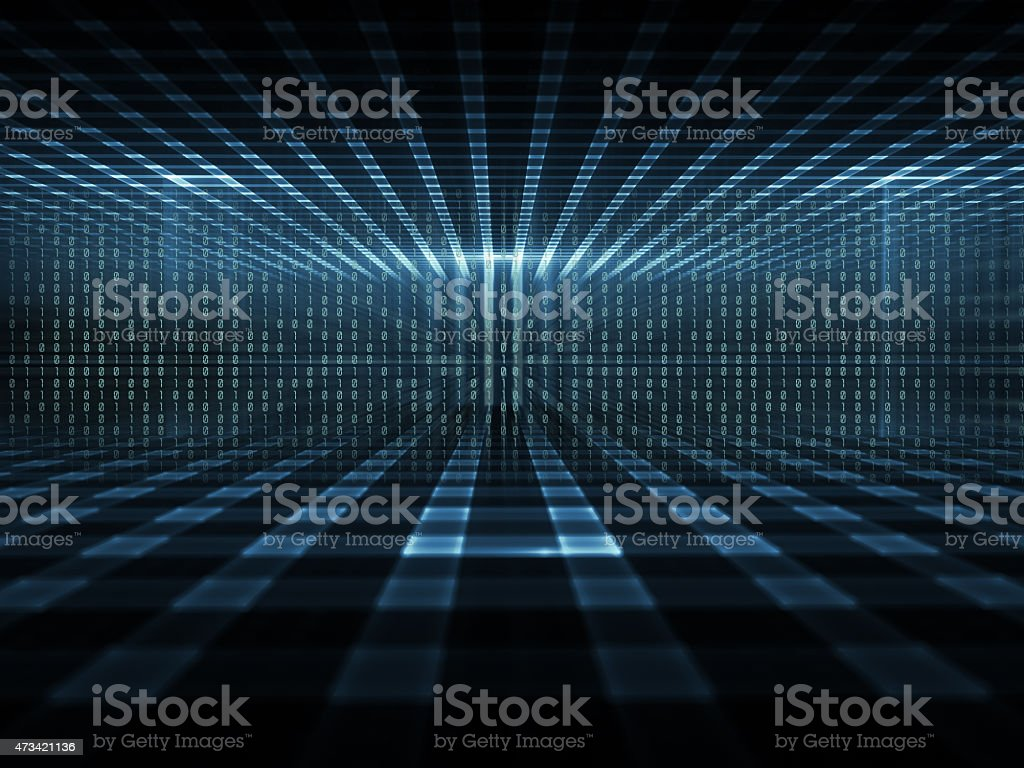 Cyberspace, concept of digital data storage stock photo