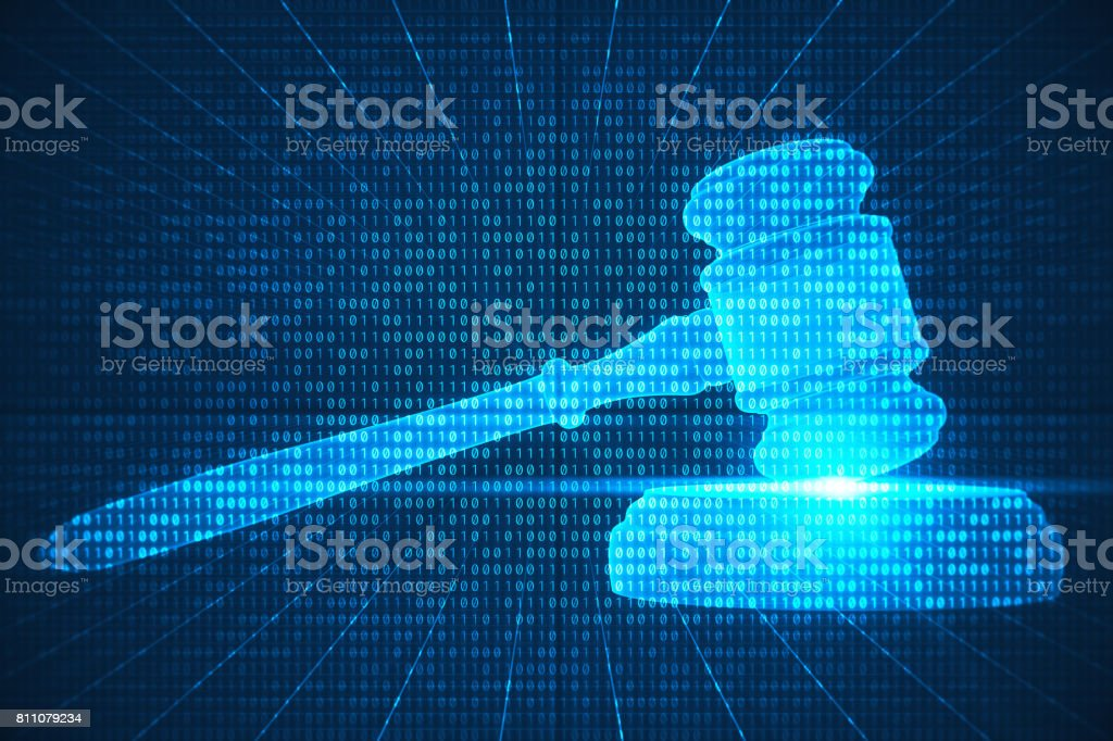 Cyberspace Laws stock photo