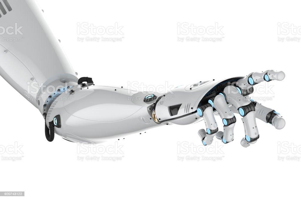 cyborg arm isolated stock photo