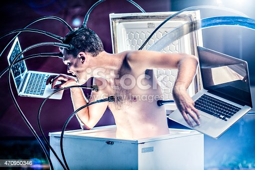 istock Cyborg at work 470950346