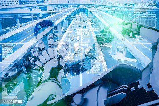 istock AI cyborg command traffic system 1144246759