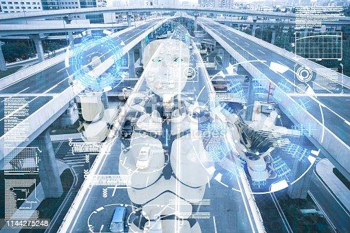istock AI cyborg command traffic system 1144275248