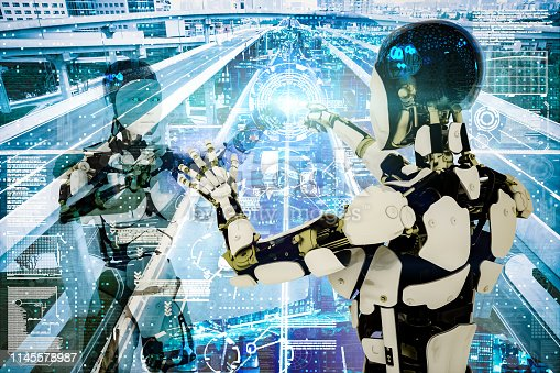 istock AI cyborg command traffic system 1145578987