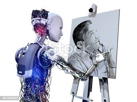 istock Cyborg Drawing Picture 937060922