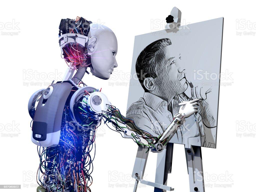 Cyborg Zeichnung Bild – Foto