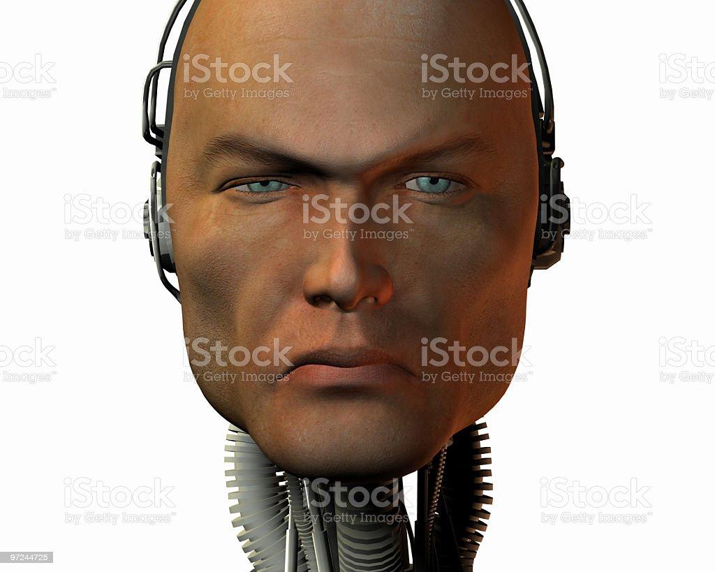 cyborg head royalty-free stock photo