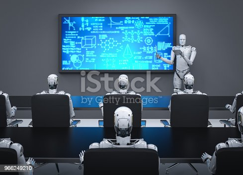 istock cyborg lecturer or teacher 966249210