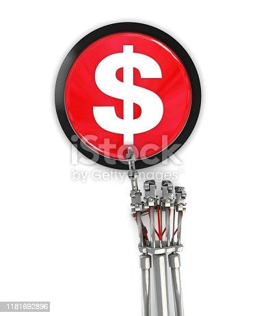 Cyborg Pressing Dollar Button
