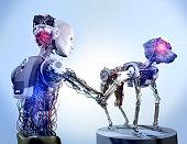Cyborg Repairing Robot Dog