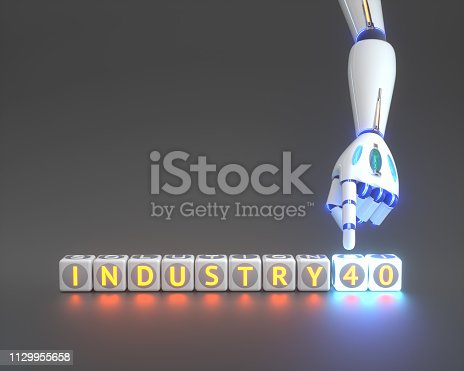 istock cyborg robot hand shows industry 4.0 sign - ai concept - 3d rendering 1129955658