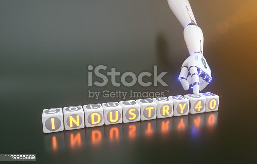 istock cyborg robot hand shows industry 4.0 sign - ai concept - 3d rendering 1129955669
