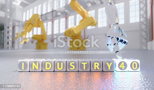 istock cyborg robot hand shows industry 4.0 sign - ai concept - 3d rendering 1129955742