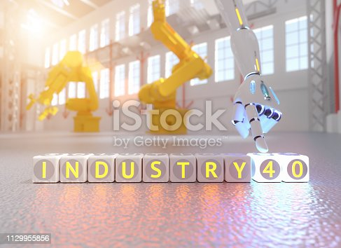 istock cyborg robot hand shows industry 4.0 sign - ai concept - 3d rendering 1129955856