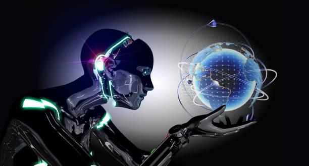 Cyborg zeigt virtuelle Welt – Foto