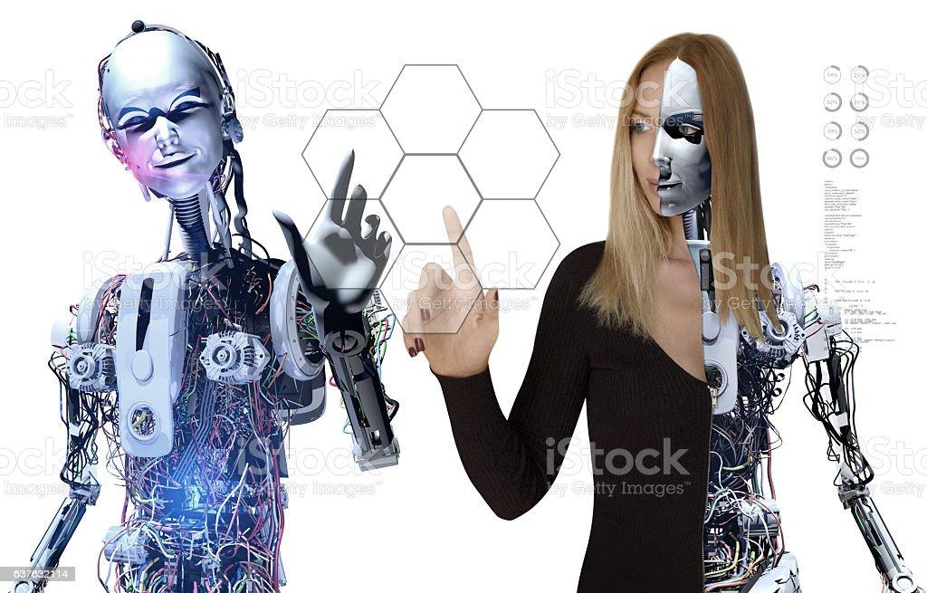 Cyborg Team and Interactive Media stock photo
