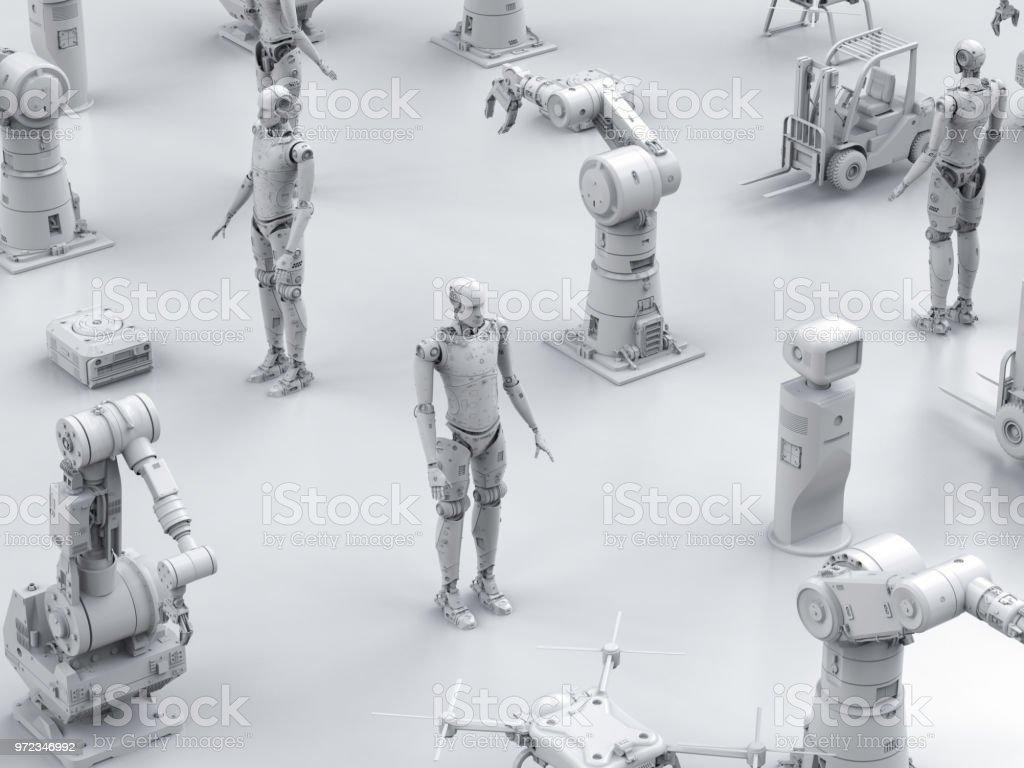 사이보그 로봇 팔 스톡 사진