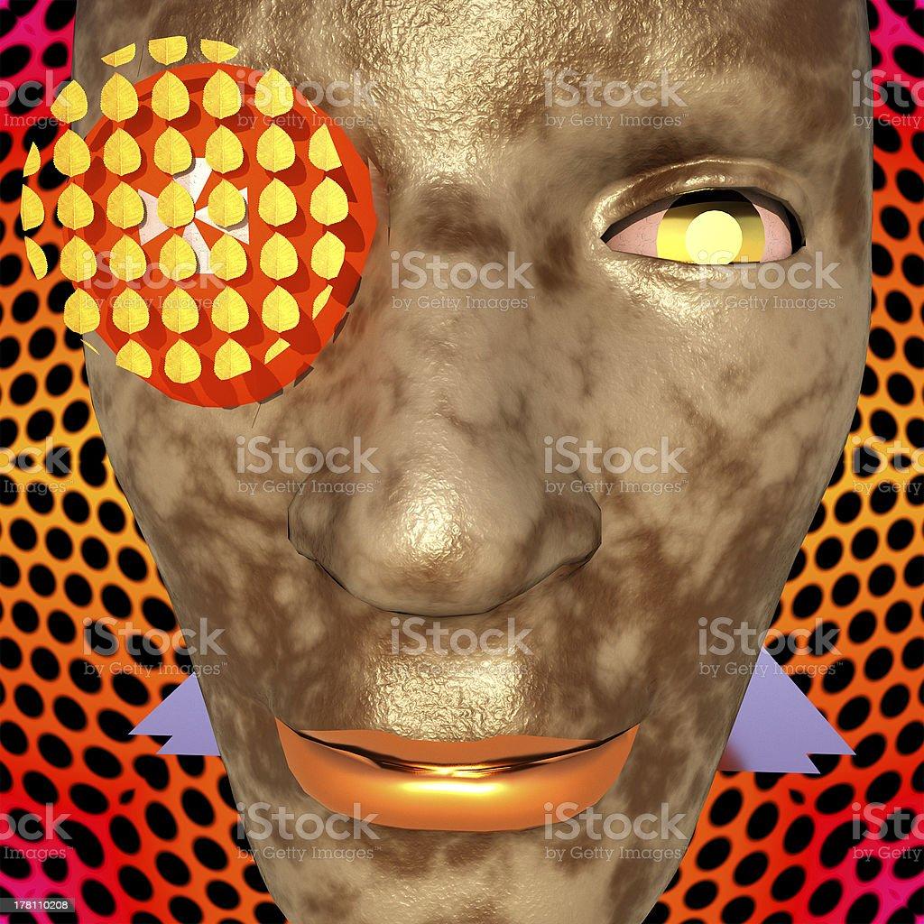 Cyborg's face royalty-free stock photo