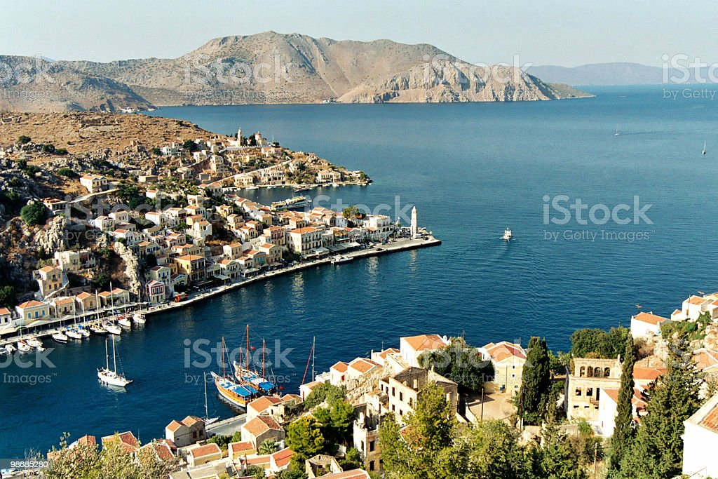 Cyclades scenic view 2 - Simi (or Symi) royalty-free stock photo