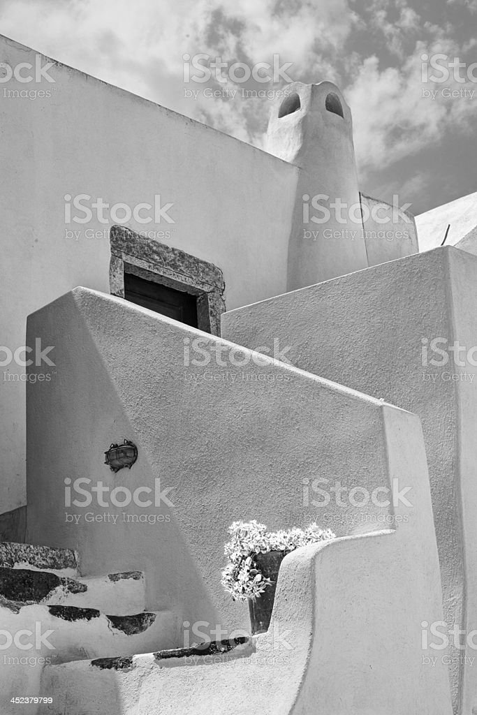 Cyclades traditional dwelling stock photo