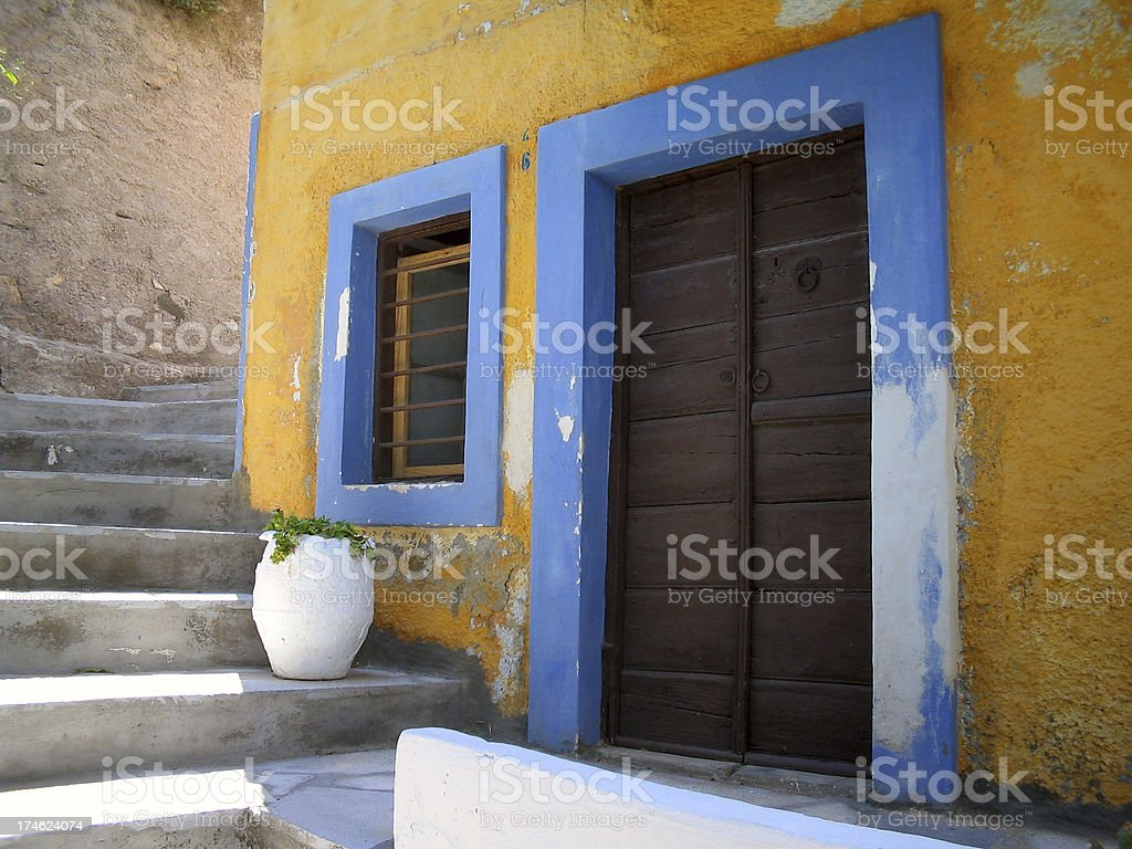 Cycladic scene royalty-free stock photo