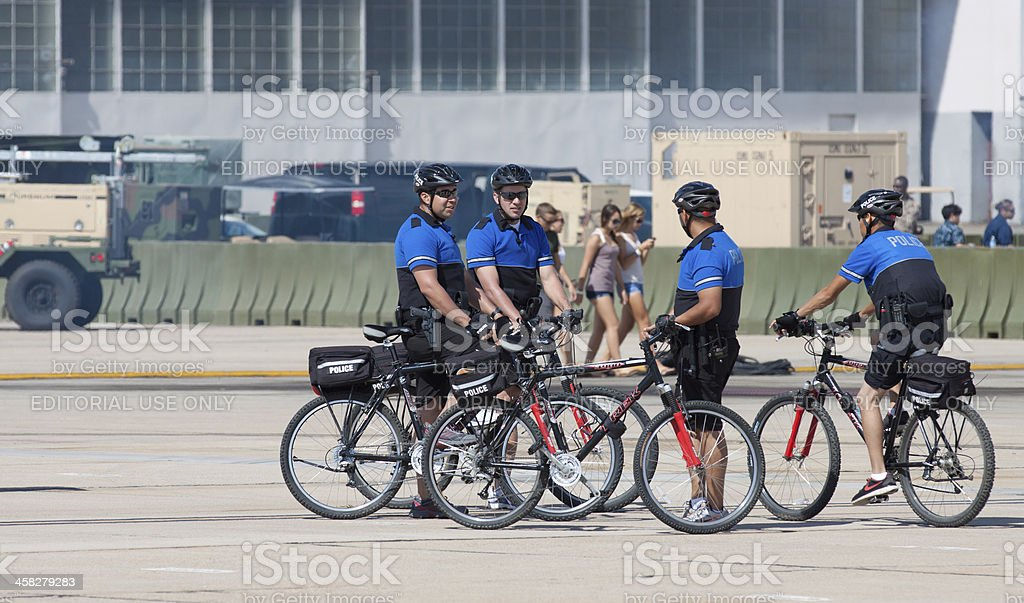 Cycle Officers At Airshow stock photo
