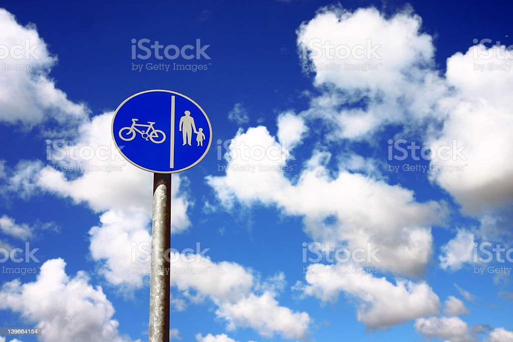Cycle Path royalty-free stock photo