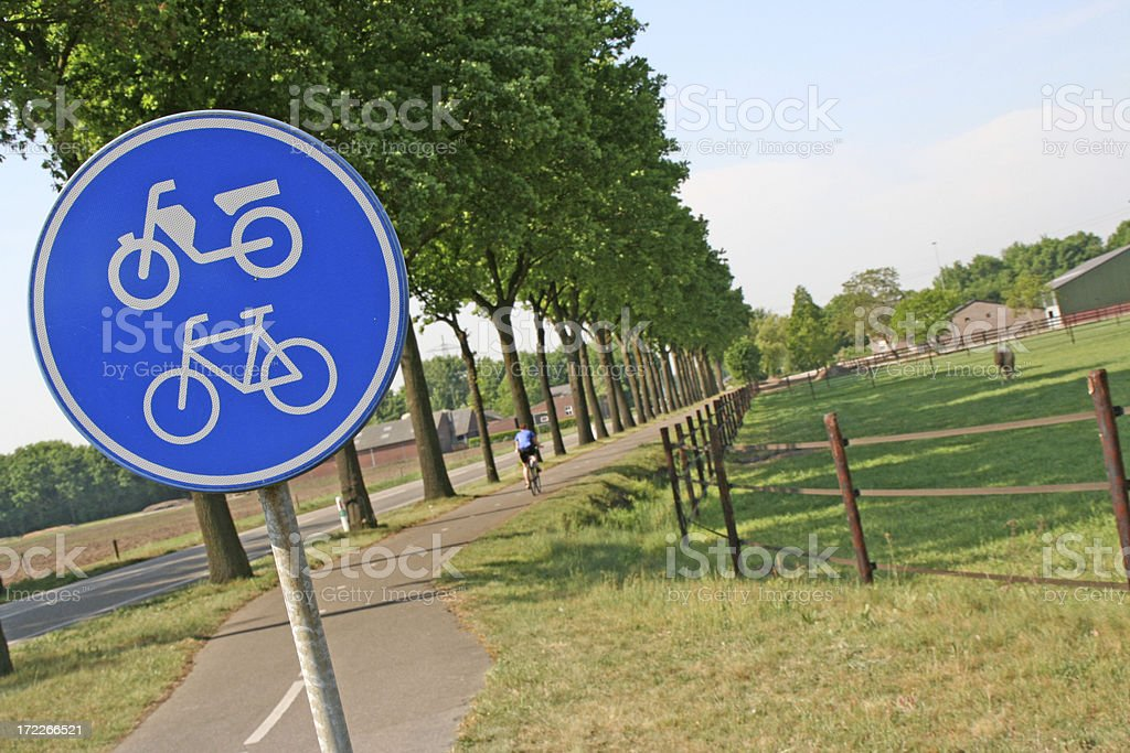 Cycle path # 1 royalty-free stock photo