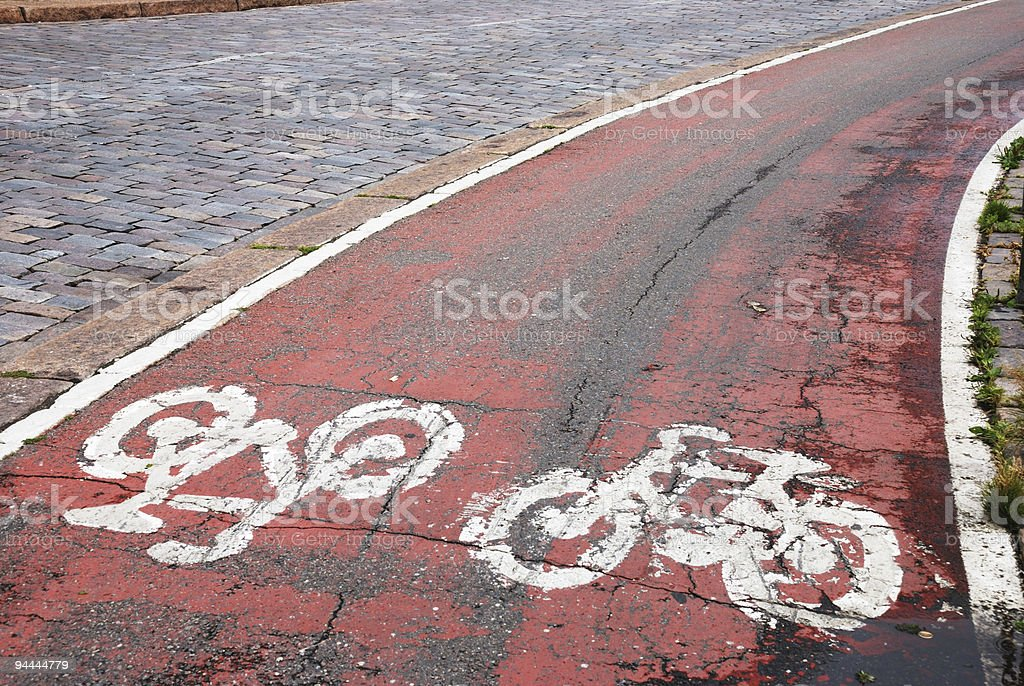cycle path royalty-free stock photo