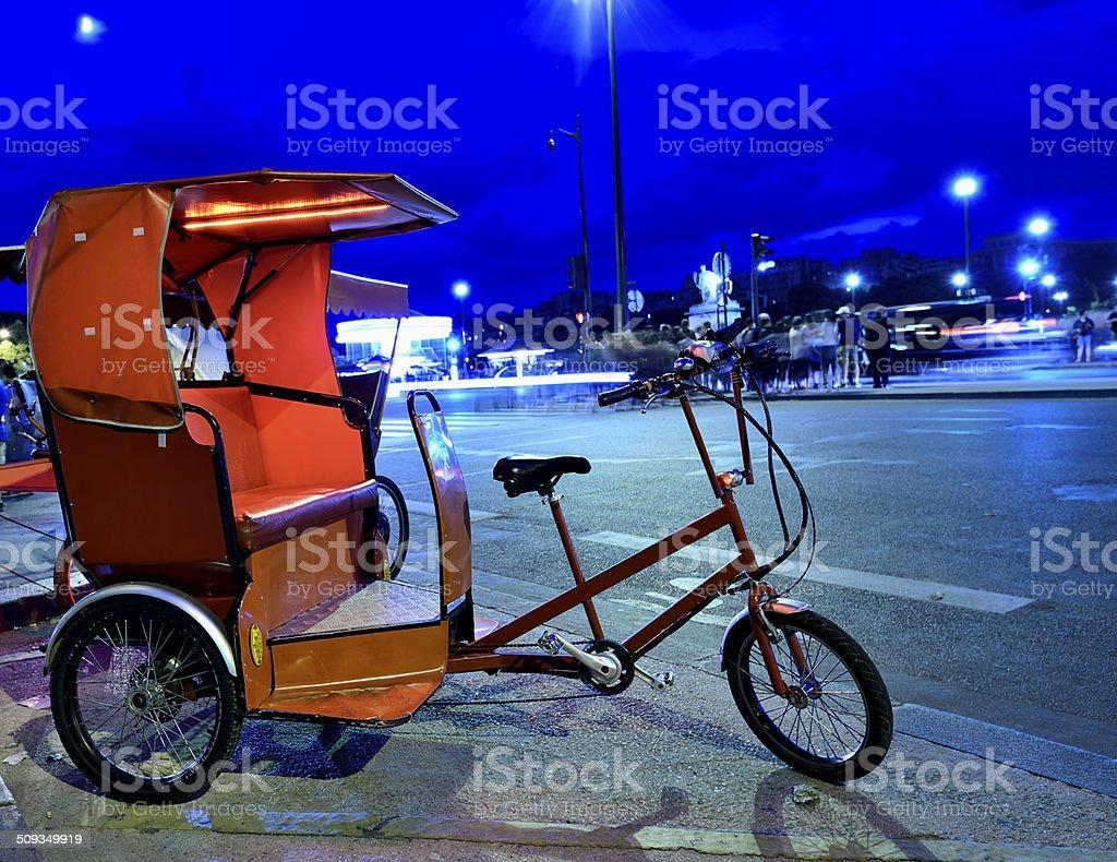 Cycle rickshaw stock photo