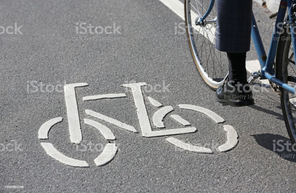 cycle_lane stock photo