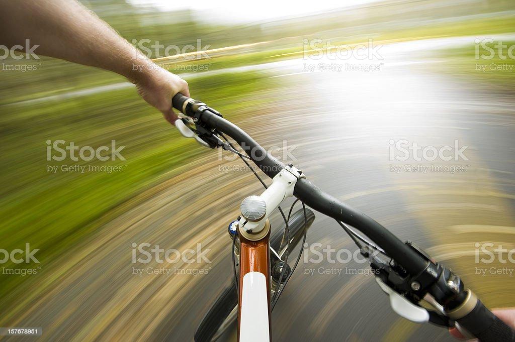 Cyclers POV royalty-free stock photo